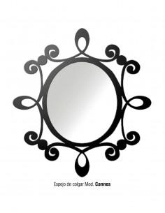 Espejo de colgar de forja...